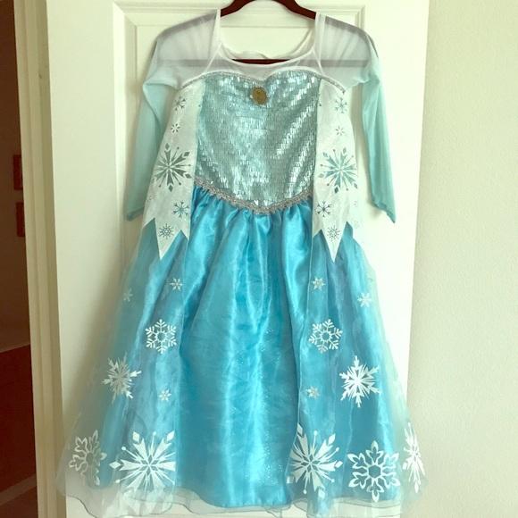 Girls Frozen Elsa Costume Dress Size 7/8 & Disney Costumes | Girls Frozen Elsa Costume Dress Size 78 | Poshmark
